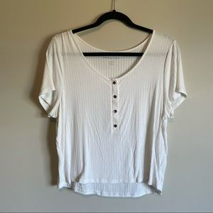 American eagle soft and sexy short sleeve crop tee